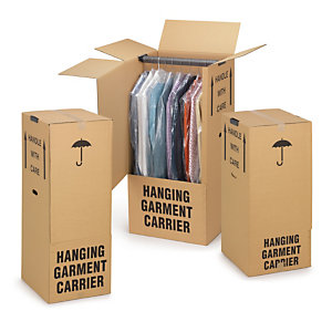 Wardrobe moving boxes are sturdy and versatile