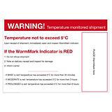 Warnetikett für Temperaturindikator WarmMark