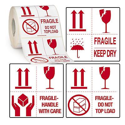 Warnetiketten mit 4 Symbolen