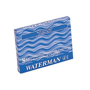 Waterman Cartucho de tinta para estilográfica, tinta azul oscuro