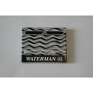 Waterman Cartucho de tinta para estilográfica, tinta azul