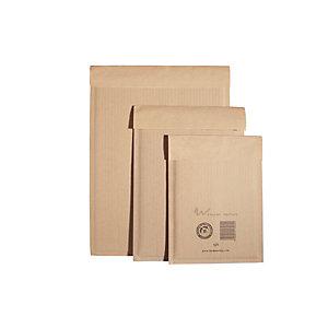 WAVE BAG Busta imbottita ecologica, Riciclabile, Chiusura biadesiva, 22 x 33 cm, Avana (confezione 100 pezzi)