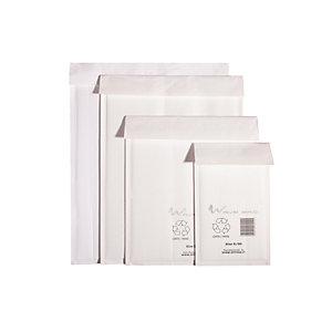 WAVE BAG Busta imbottita ecologica, Riciclabile, Chiusura biadesiva, 30 x 44 cm, Bianco (confezione 100 pezzi)