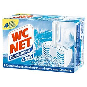 WC NET Bloc cuvette 4 en 1 (Lot de 4)
