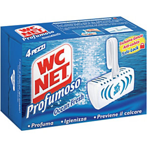 WC NET Profumoso Tavoletta solida per WC, Ocean Fresh (confezione 4 pezzi)