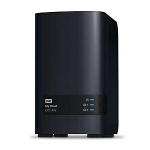 Wd Western Digital My Cloud EX2 Ultra, NAS, Escritorio, Marvell, Armada 385, 8 TB, Negro WDBVBZ0080JCH-EESN