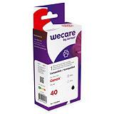 Wecare Cartuccia inkjet rigenerata compatibile con CANON PG-40 BK, 0615B001, Nero, Pacco singolo