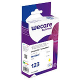 Wecare LC123 Y, LC123Y, Cartucho de Tinta remanufacturado, compatible con BROTHER, Amarillo