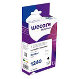 Wecare LC1240 B, LC1240BK, Cartucho de Tinta remanufacturado, compatible con BROTHER, Negro