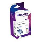Wecare LC980 C, LC1100 C, LC980 M, LC1100 M, LC980 Y, LC1100 Y Cartucho de Tinta, compatible con BROTHER, Negro, Cian, Magenta, Amarillo, Alta capacidad, Multipack