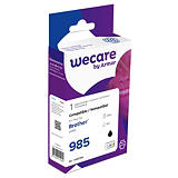 Wecare LC985 B, LC985BK, Cartucho de Tinta, compatible con BROTHER, Negro