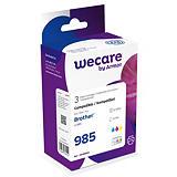 Wecare LC985 C, LC985 M, LC985 Y, Cartucho de Tinta, compatible con BROTHER, Cian, Magenta, Amarillo, Pack de 3