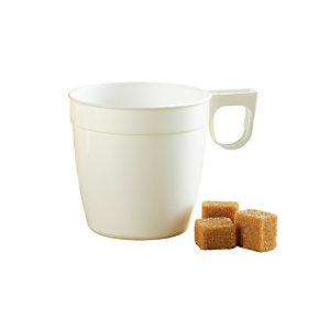 Wegwerpbare koffiekopjes voor warme drankjes, in wit plastic, 17,5 cl, per 200
