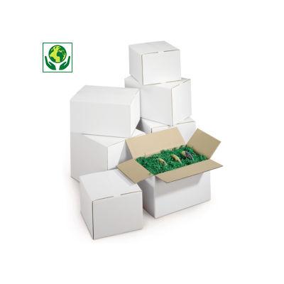 Weiße flache Wellpapp-Faltkartons, 2-wellig
