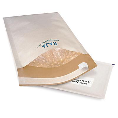 Weiße Luftpolster-Versandtaschen