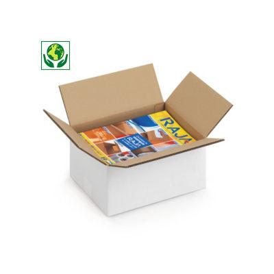 Weiße Wellpapp-Faltkartons, 2-wellig, DIN A4 Format