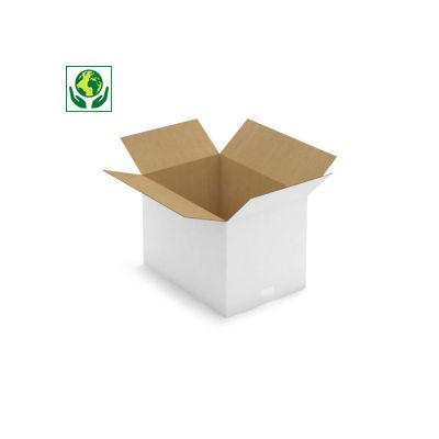 Weiße Wellpapp-Faltkartons RAJABOX, 1-wellig, DIN A3 Format