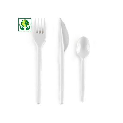 """Weißes Besteck """"Eco"""" - RESTPOSTEN"""