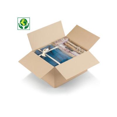 Wellpapp-Faltkarton mit Automatikboden, 1-wellig