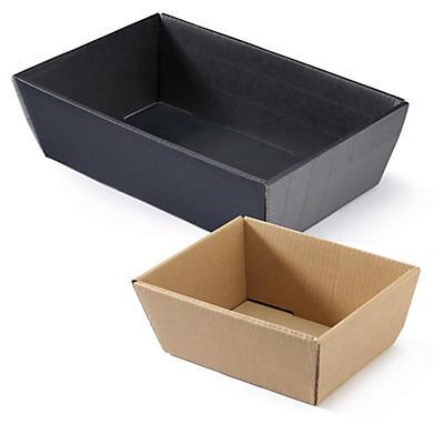 Corbeille carton micro cannelure##Wellpapp-Geschenkkorb