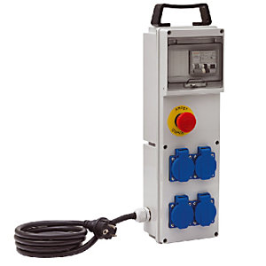 Werfdoos BD 4M/16/AU Brennenstuhl, 4 klepstopcontacten, kabel 2 m H07RN-F3G2,5