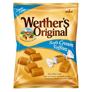 Werther's Original Cream Toffee Caramelle toffee, Bustina da 125 g