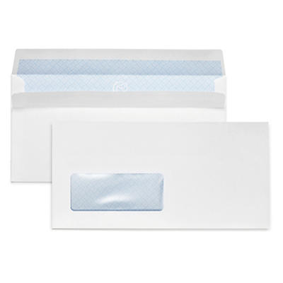 White business envelopes, self-seal