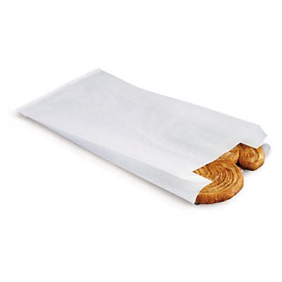 White paper bags with gusset