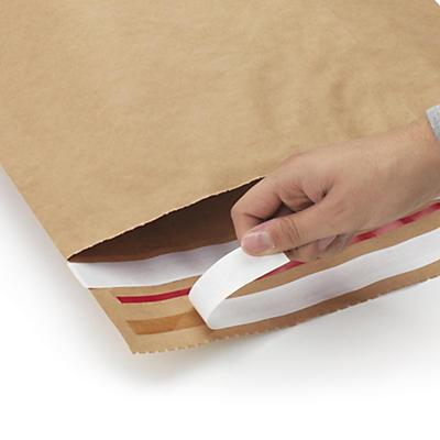 Wiederverschliessbare Kraftpapier-Versandbeutel