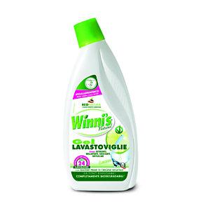 Winni's Naturel Lavastoviglie Gel Concentrato, Profumo Limone, Flacone 600 ml
