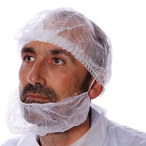 Wit baardmasker