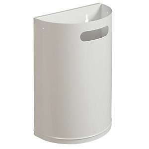 Witte afneembare sanitaire vuilnisbak 20 L Rossignol