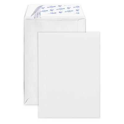 Pochette administrative en vélin blanc##Witte akte-envelop met zelfklevende of gegomde sluiting