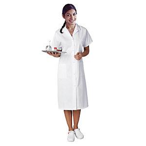 Witte damesschort met korte mouwen polykatoen M44/46