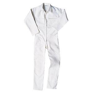 Witte overall in katoen M5