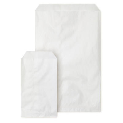 Sachet plat kraft blanc##Witte platte papieren zak