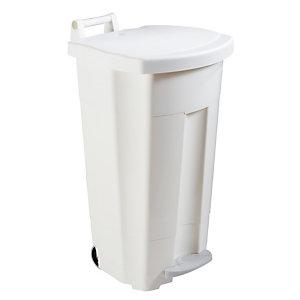 Witte verzamelbak met pedaal 90 L Rossignol