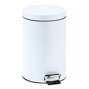 Witte vuilnisbak met pedaal 12 L