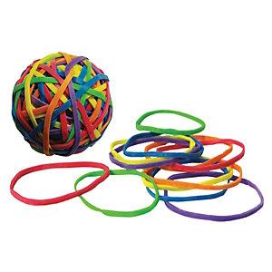 Wonday Elastiques couleur 70g - Boule de 150 de couleurs assorties