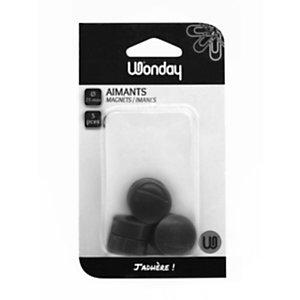 Wonday Magneti, ø 25 mm, Nero (confezione 5 pezzi)