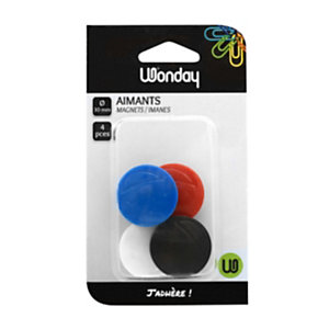 Wonday Magneti, ø 30 mm, Colori assortiti (confezione 4 pezzi)
