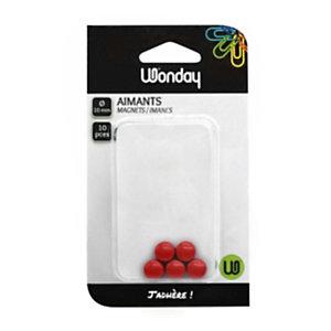 Wonday Magneti, ø 10 mm, Rosso (confezione 10 pezzi)