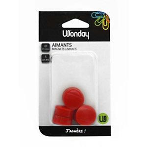 Wonday Magneti, ø 25 mm, Rosso (confezione 5 pezzi)