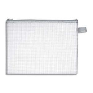 WONDAY Pochette zippée en PVC renforcé semi-transparente pour le courrier, format 25x19cm épaisseur 0,5cm