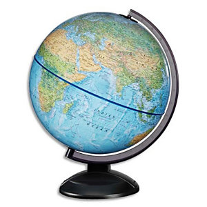 WONDAY Scanglobe - Globe en kit prêt à monter, avec notice de montage, lumineux sphère Bleue 30 cm