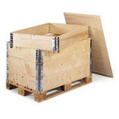 Wooden pallet box collars and lids