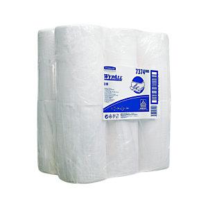 Wypall* L10 Rollo de toallitas de papel de limpieza, 1 capa, 200 hojas, rollo con salida central, 185mm, blanco