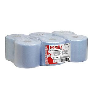 Wypall* L10 Rollo de toallitas de papel de limpieza, 1 capa, 800 hojas, rollo con salida central, 195 mm, azul