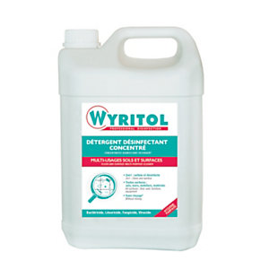 Wyritol Bidon de détergent sols et surfaces, liquide désinfectant concentré - Parfum frais léger,  5 L