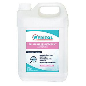 Wyritol Gel hydroalcoolique désinfectant mains - Prévention covid - Bidon 5 L